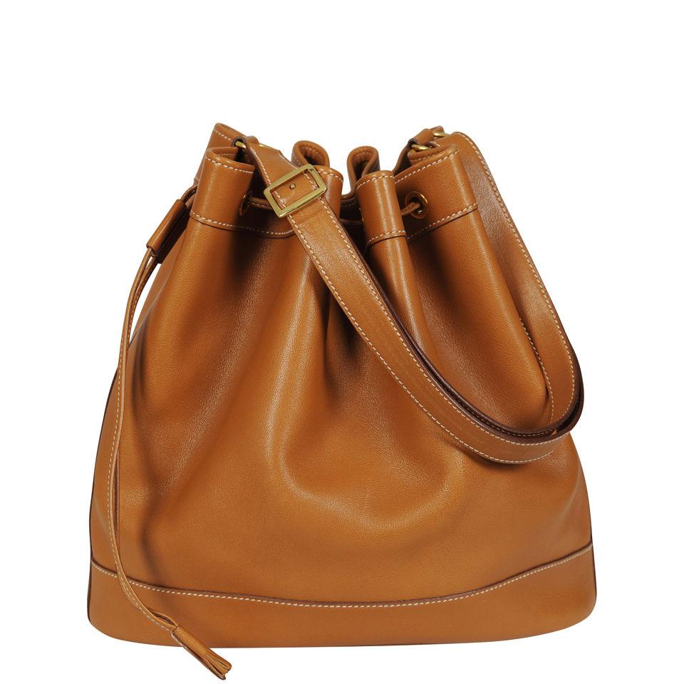 Hermes Vintage Leather Bucket Bag c2481b2ea0eda