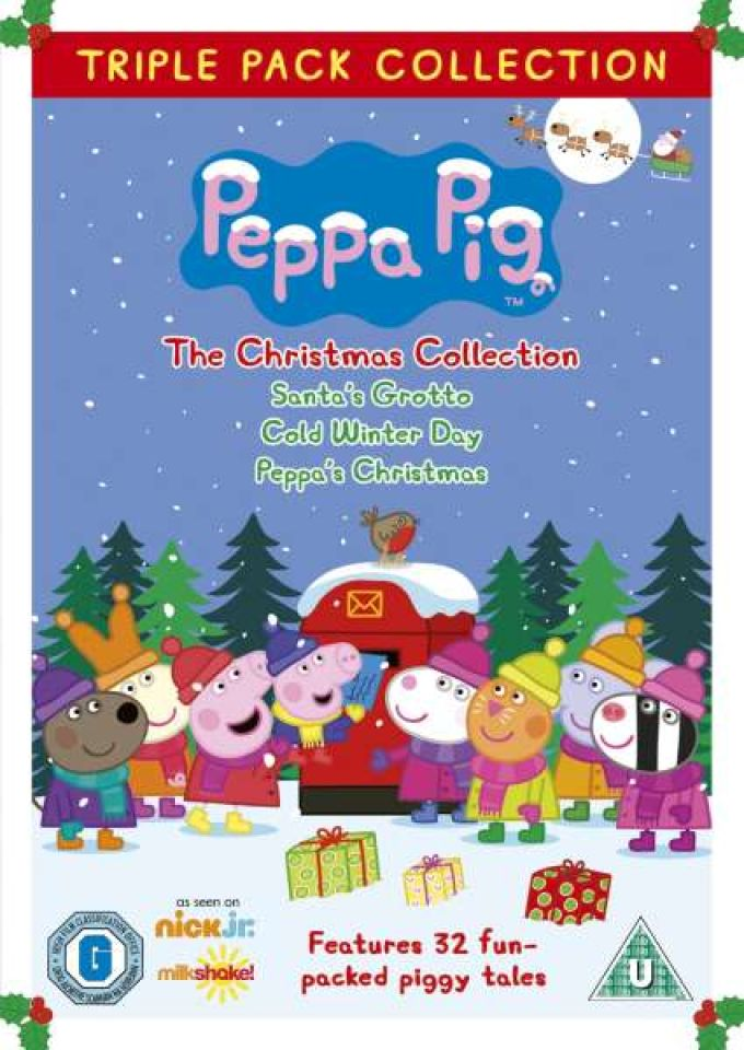 Peppa Pig Triple The Christmas Collection Dvd Zavvi