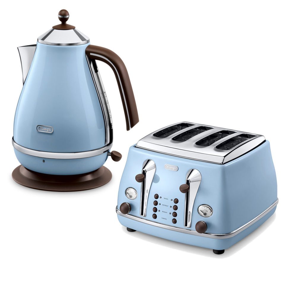 de 39 longhi icona vintage 4 slice toaster and kettle bundle. Black Bedroom Furniture Sets. Home Design Ideas