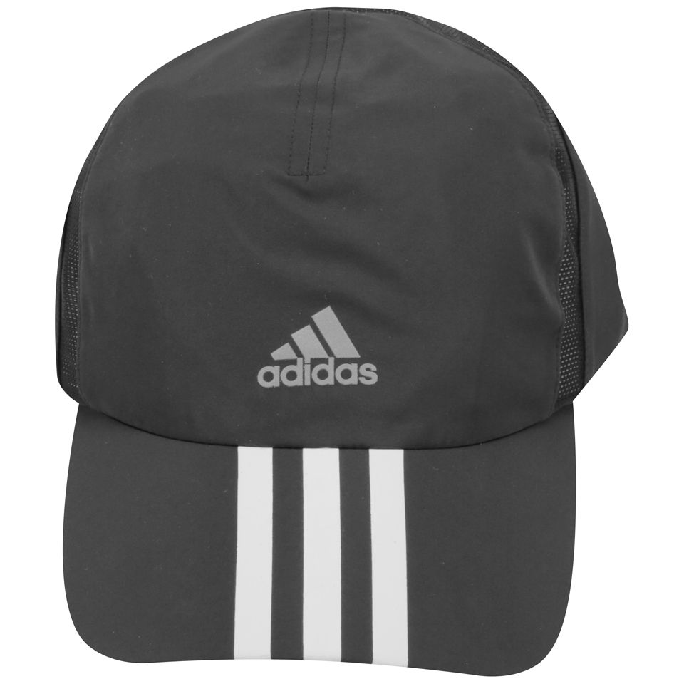 low priced 89a14 49cfb adidas Unisex Run 3-Stripes Climacool Cap - Black/Reflective Sliver