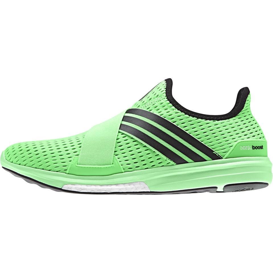 dc5d6bfb66f4 adidas Men s CC Sonic Boost Running Shoes - Black Green Sports ...