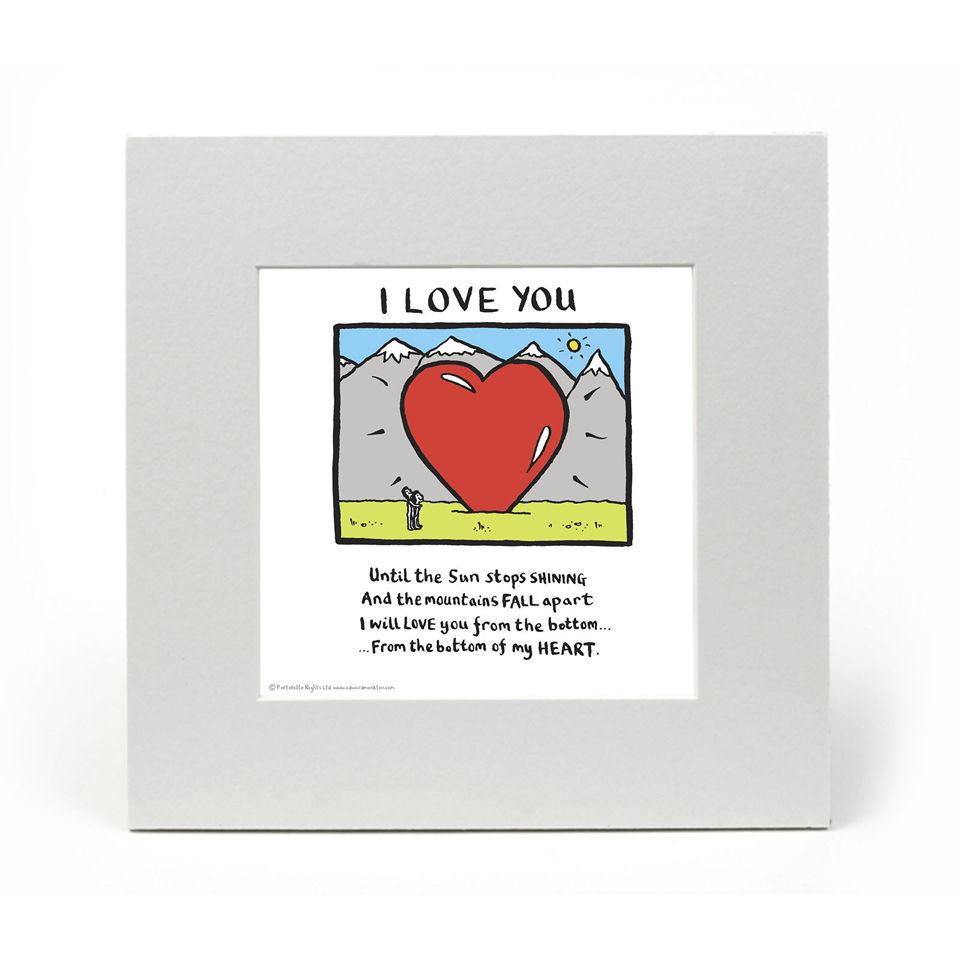 Edward Monkton I Love You Limited Edition Fine Art Print Homeware Zavvi