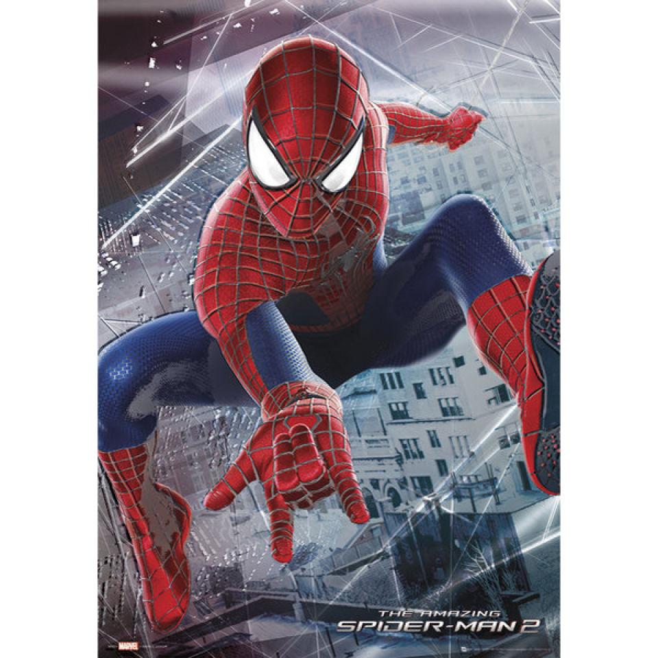 Metallic Poster 47x67 cm The Amazing Spiderman 2 Webslinger