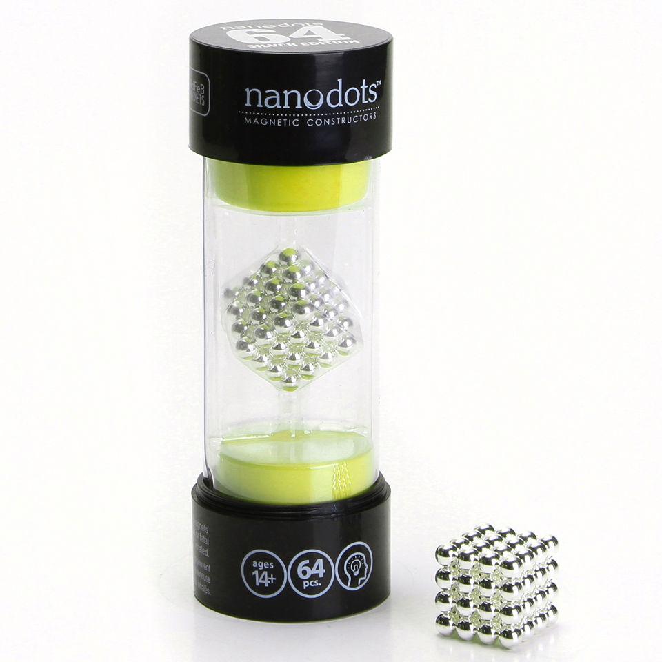 Nanodots Magnetic Constructors Silver 64 Dots Unique