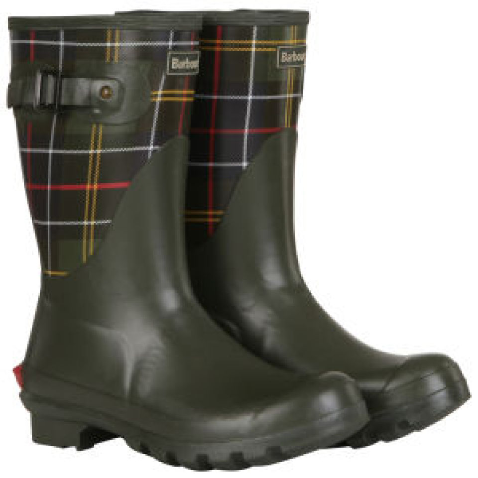 22986a41d Barbour Women's Short Classic Tartan Wellington Boots - Olive | FREE UK  Delivery | Allsole