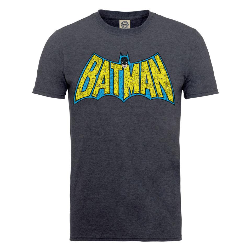 dc comics s t shirt batman retro crackle logo
