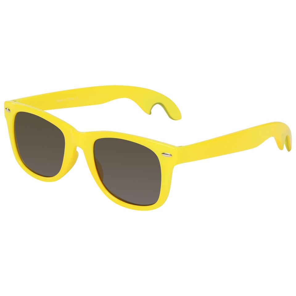 Mens Bottle Opener Sunglasses - Yellow Mens Accessories ...