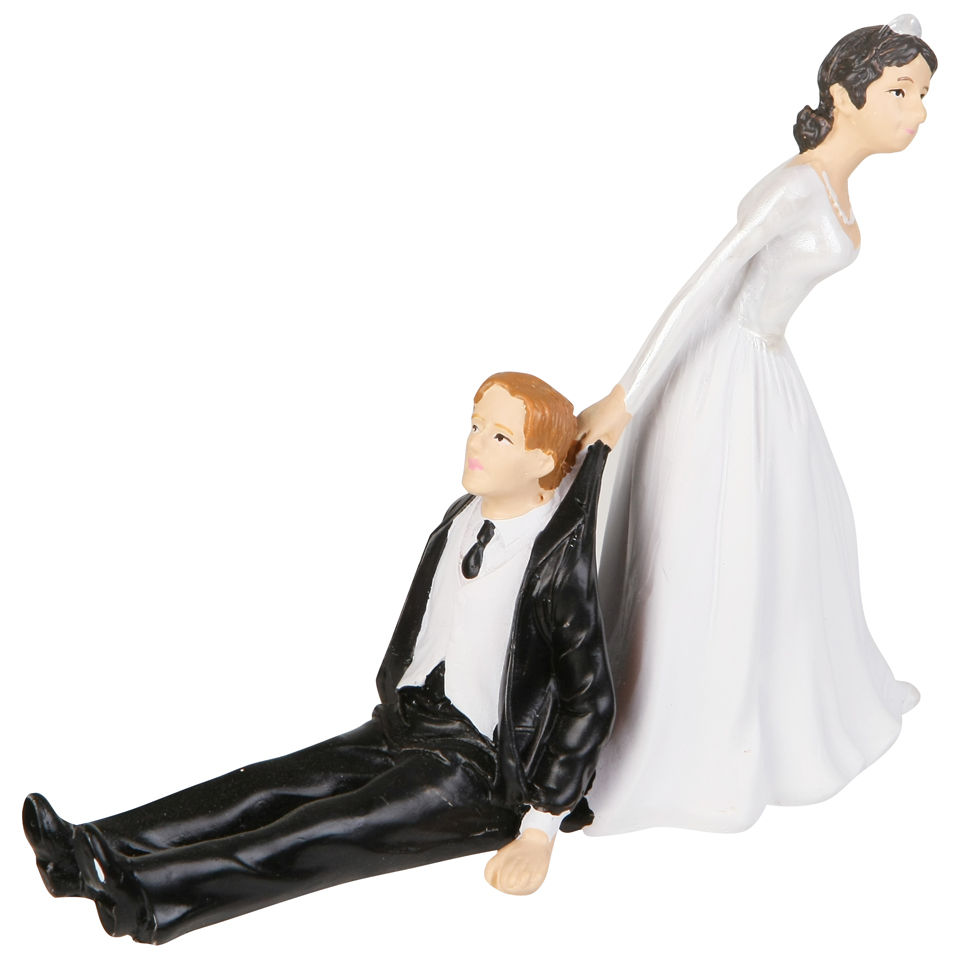 Picking Up Couple Wedding Cake Topper