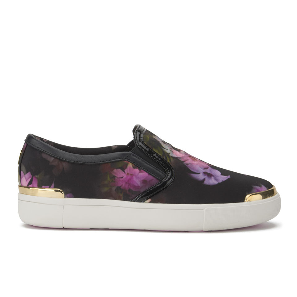 ted baker womens malbeck printed slip on trainers multi