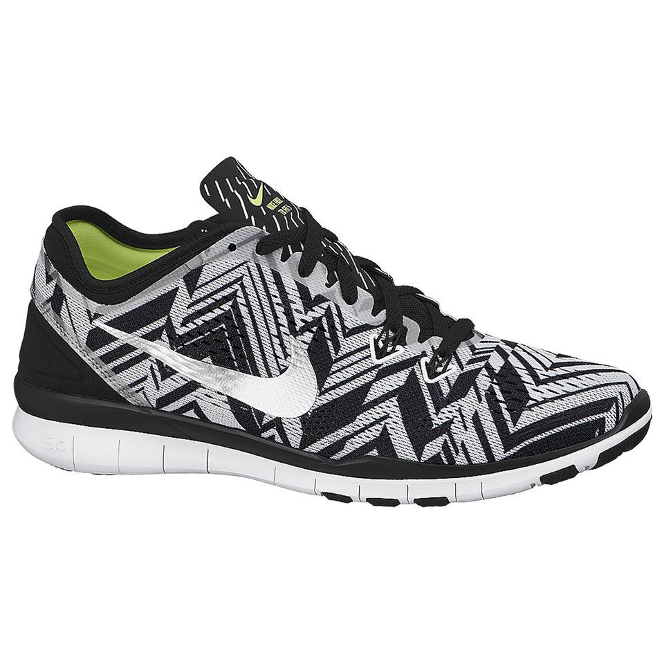 WMNS Nike Free 5 0 TR FIT 5 PRT 704695 Schwarz 001 Damen Sportschuhe Sneaker