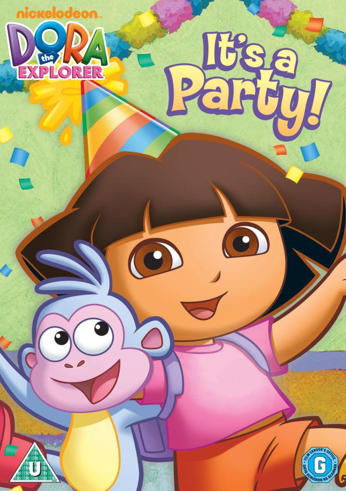 Dora The Explorer Its A Party Dvd Zavvi