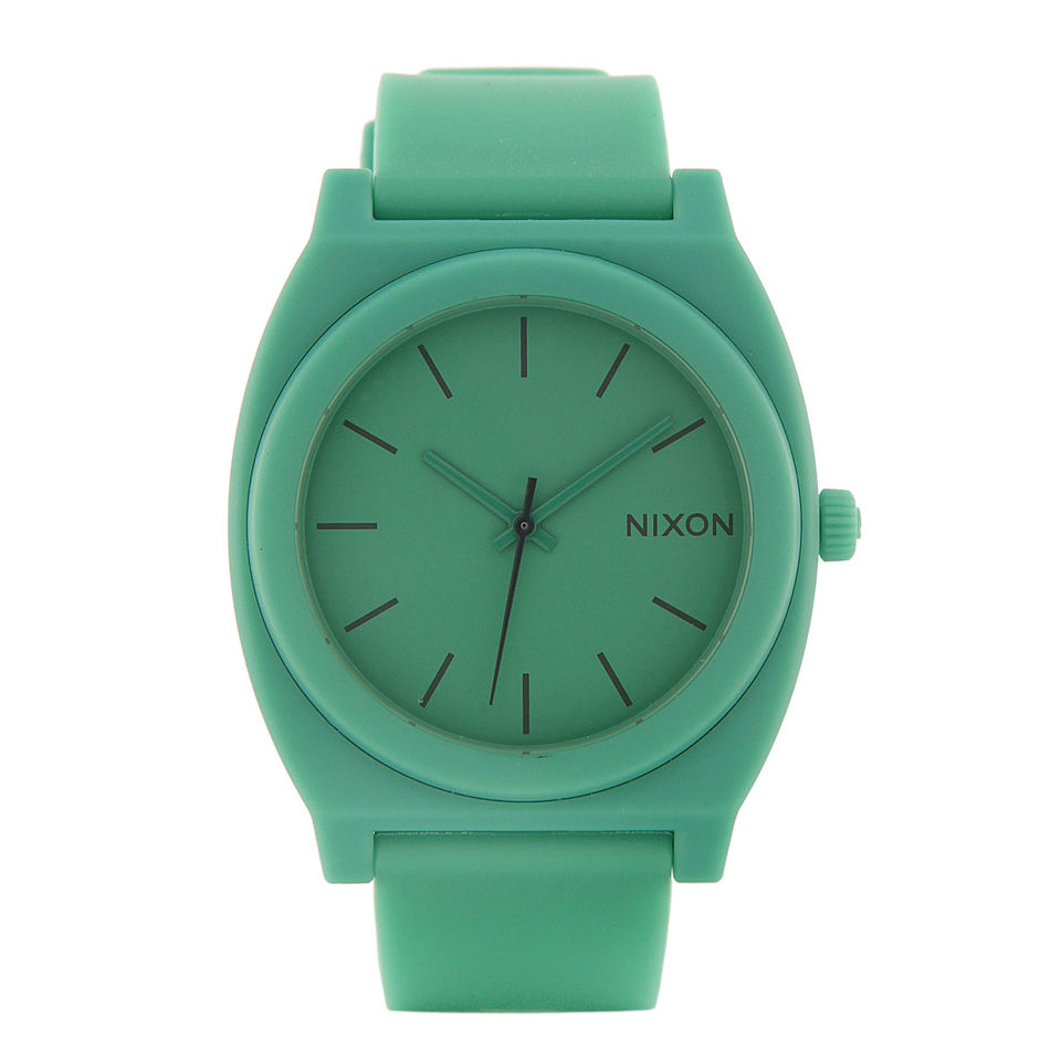 nixon men s the time teller p mint watch matte green uk nixon men s the time teller p mint watch matte green uk delivery over £50