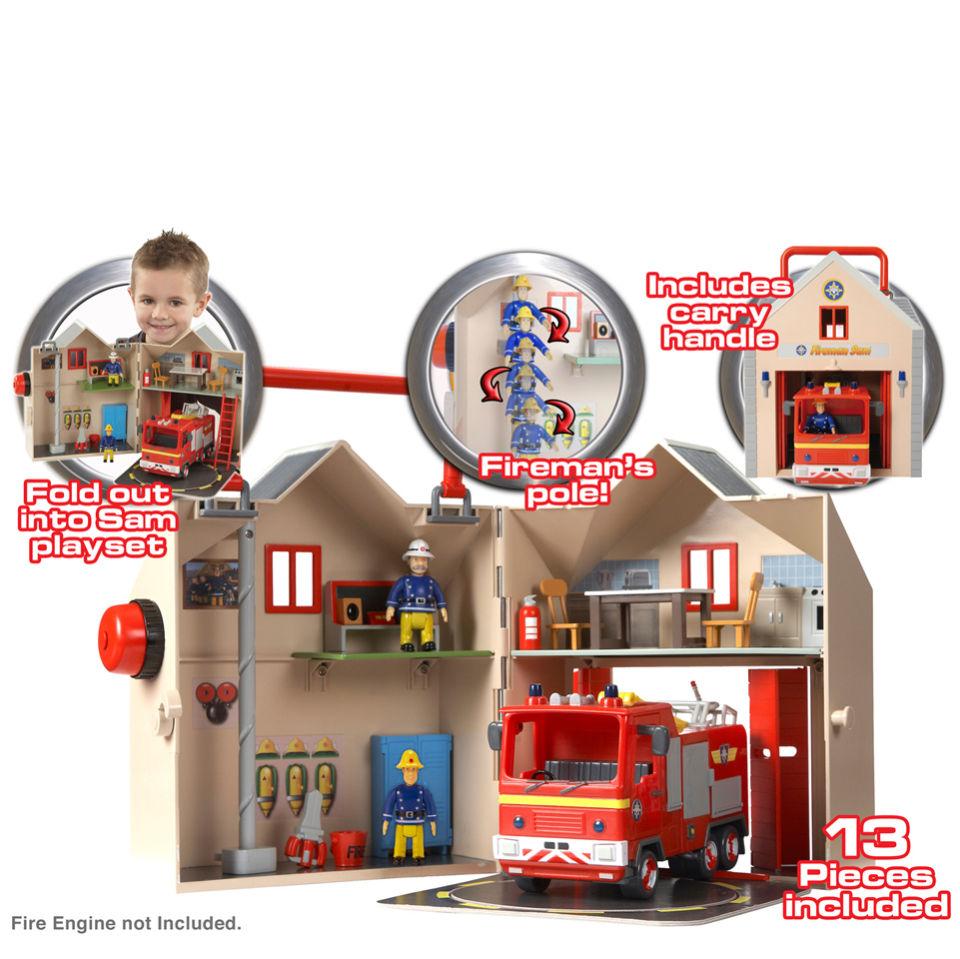 Best Fireman Sam Toys Kids : Fireman sam deluxe fire station playset toys zavvi