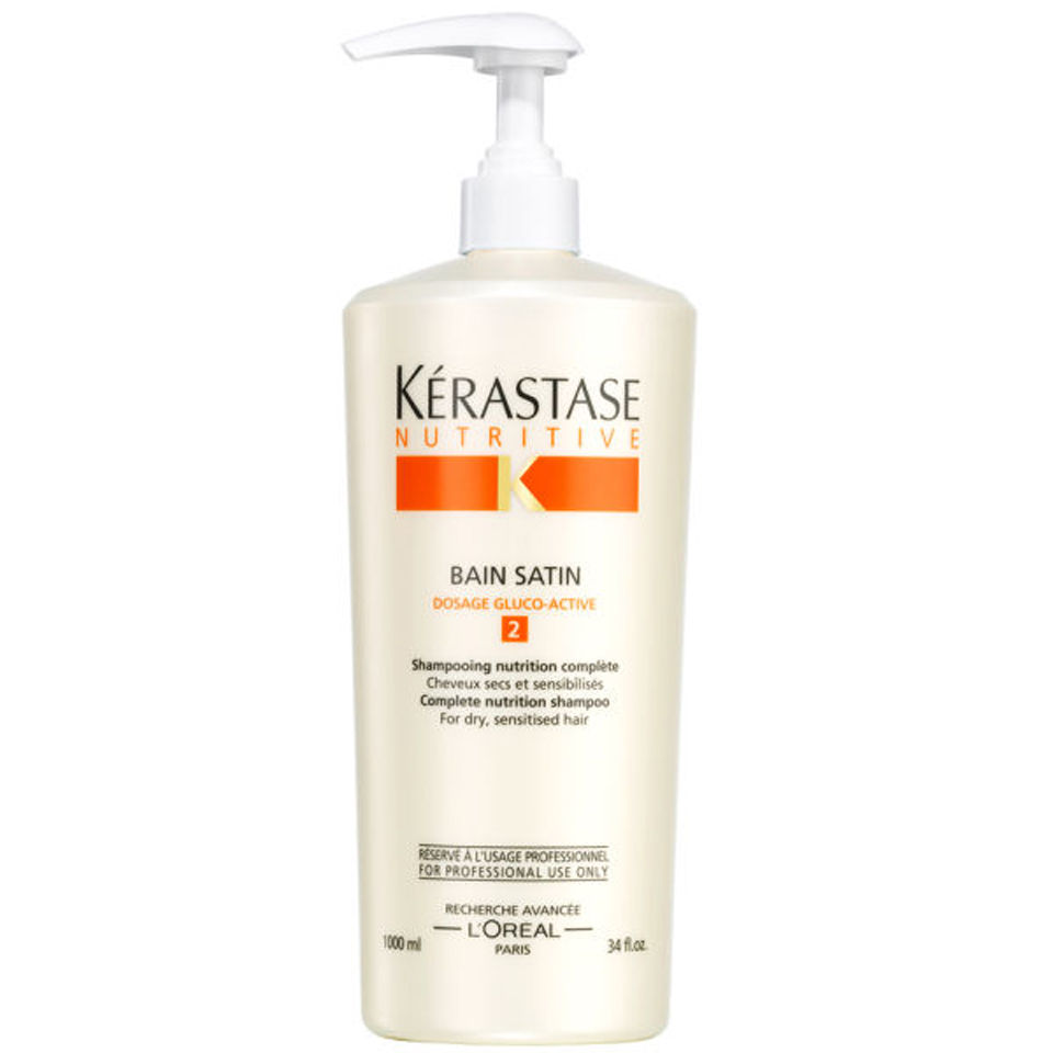 K rastase nutritive bain satin 2 1000ml and pump hq hair for Kerastase bain miroir conditioner