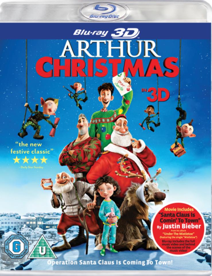 Arthur Christmas 3D (Includes UltraViolet Copy) Blu-ray   Zavvi.com