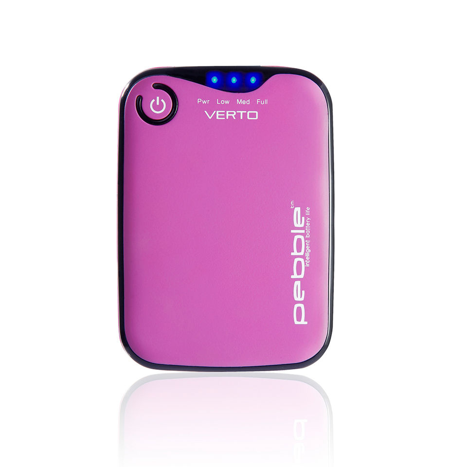 Veho Pebble Verto Portable Battery Back Up Power, 3700mah - Pink | Batterier og opladere