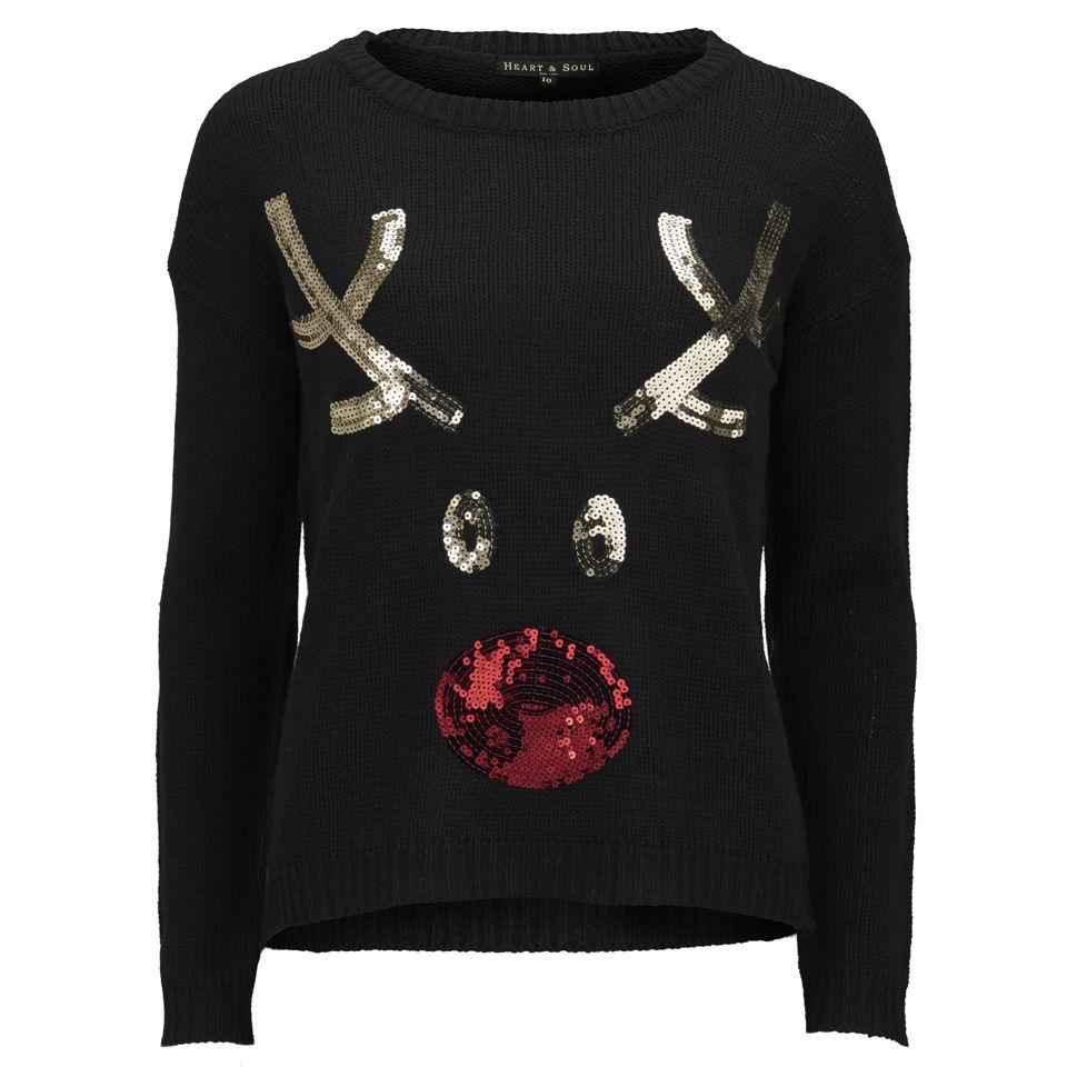 Love Knitwear Women S I Love Rudolph Christmas Jumper