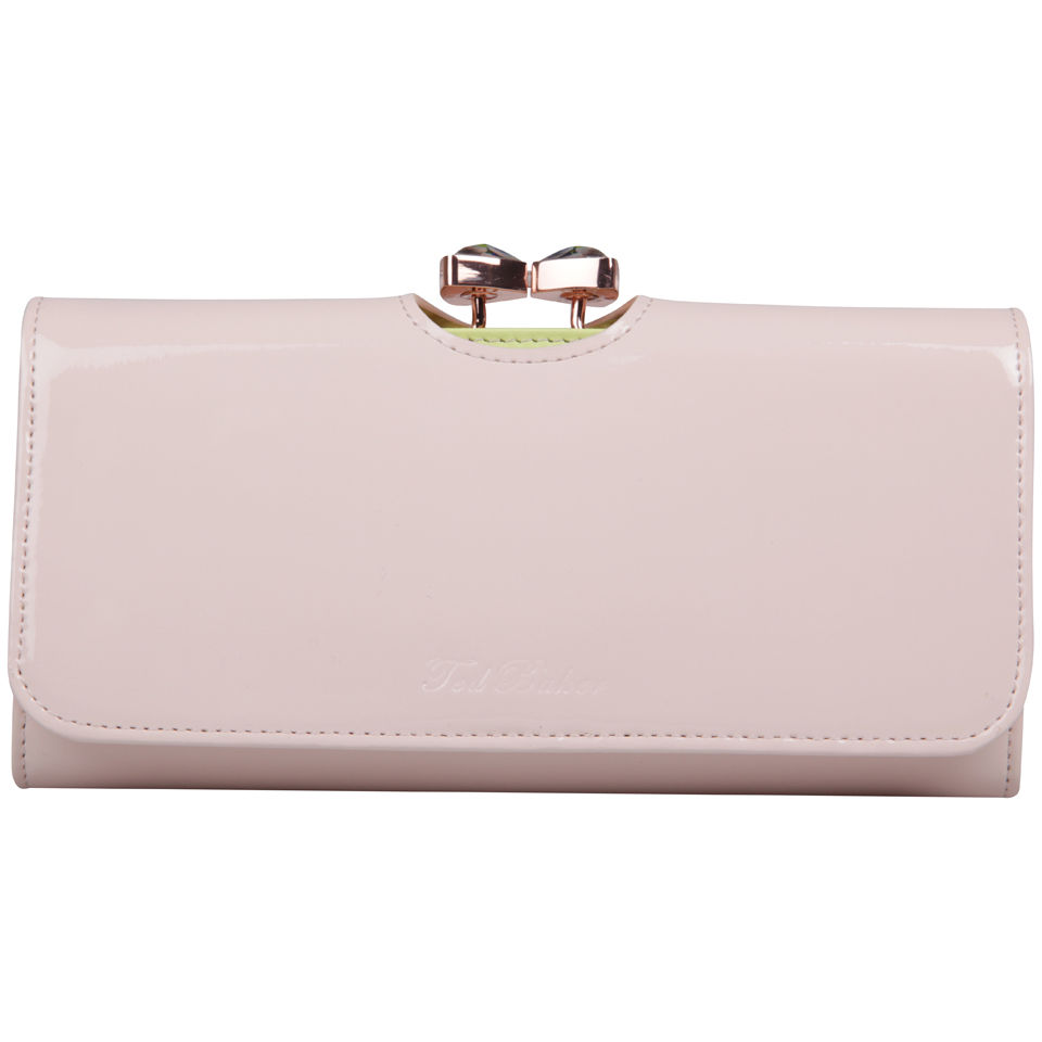 f6ae019c6d3e Ted Baker Titiana Bow Crystal Top Bobble Leather Matinee Purse - Light Pink