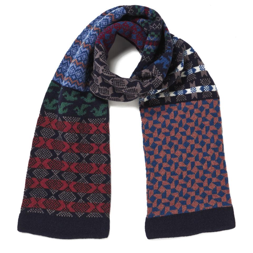 Barbour Multi-Pattern Tubular Knit Scarf - Multi-Colour
