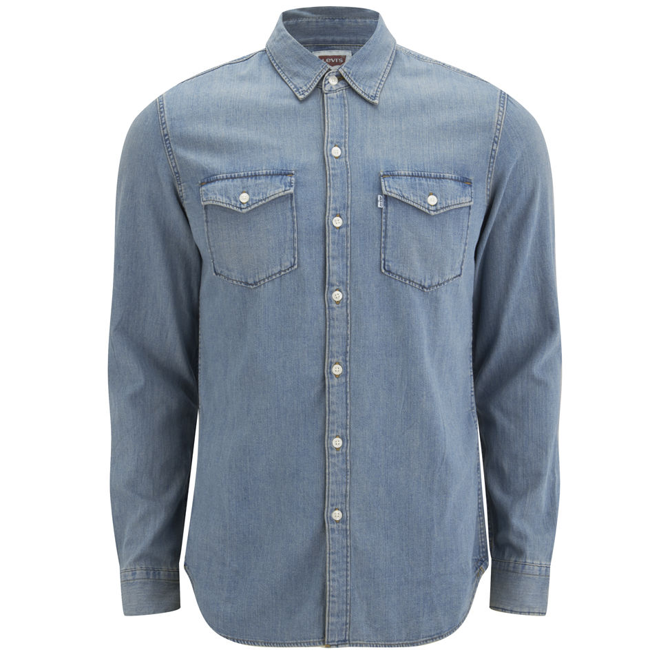 Levi 39 s men 39 s slim fit long sleeve truckee western shirt for Levi s short sleeve shirt
