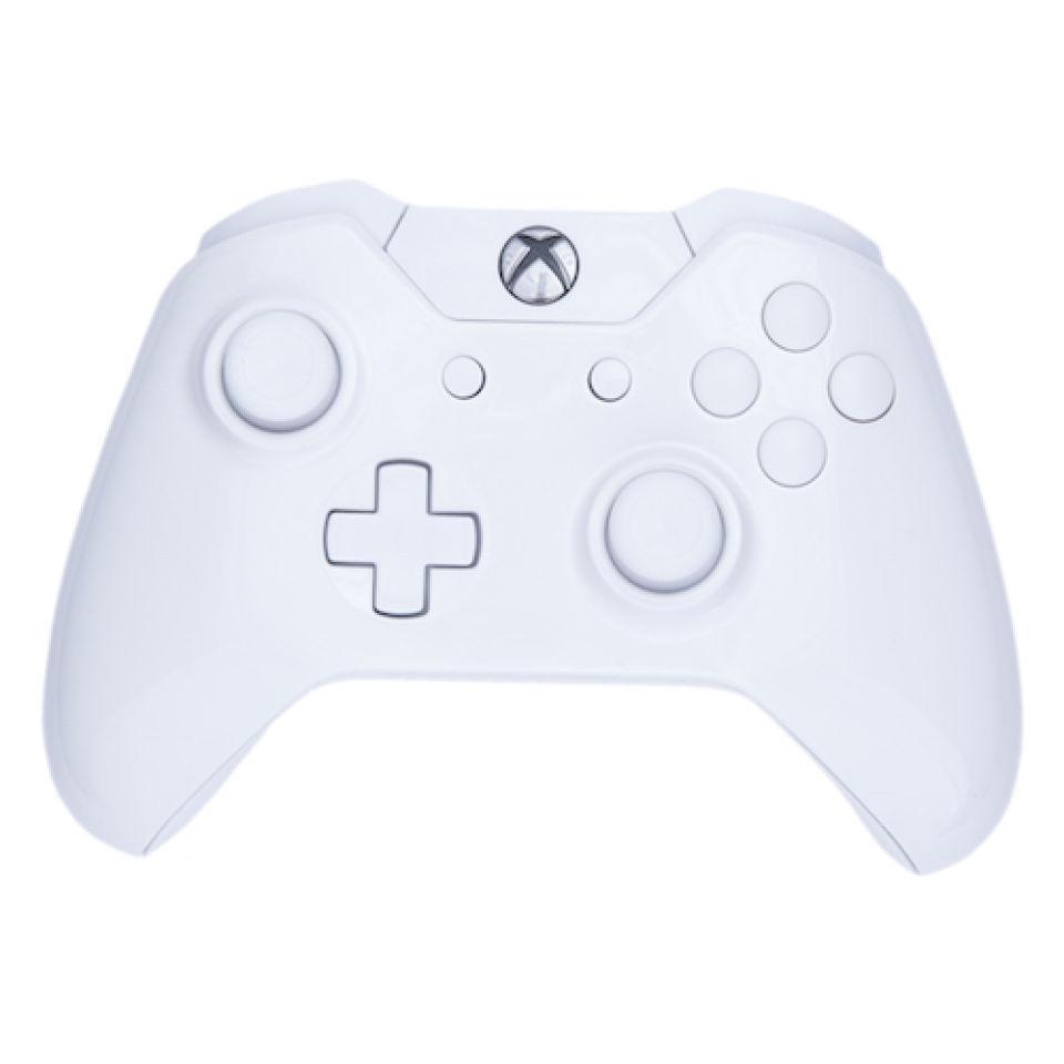 Xbox One Wireless Custom Controller - White on White Gloss ...  Xbox One Wirele...