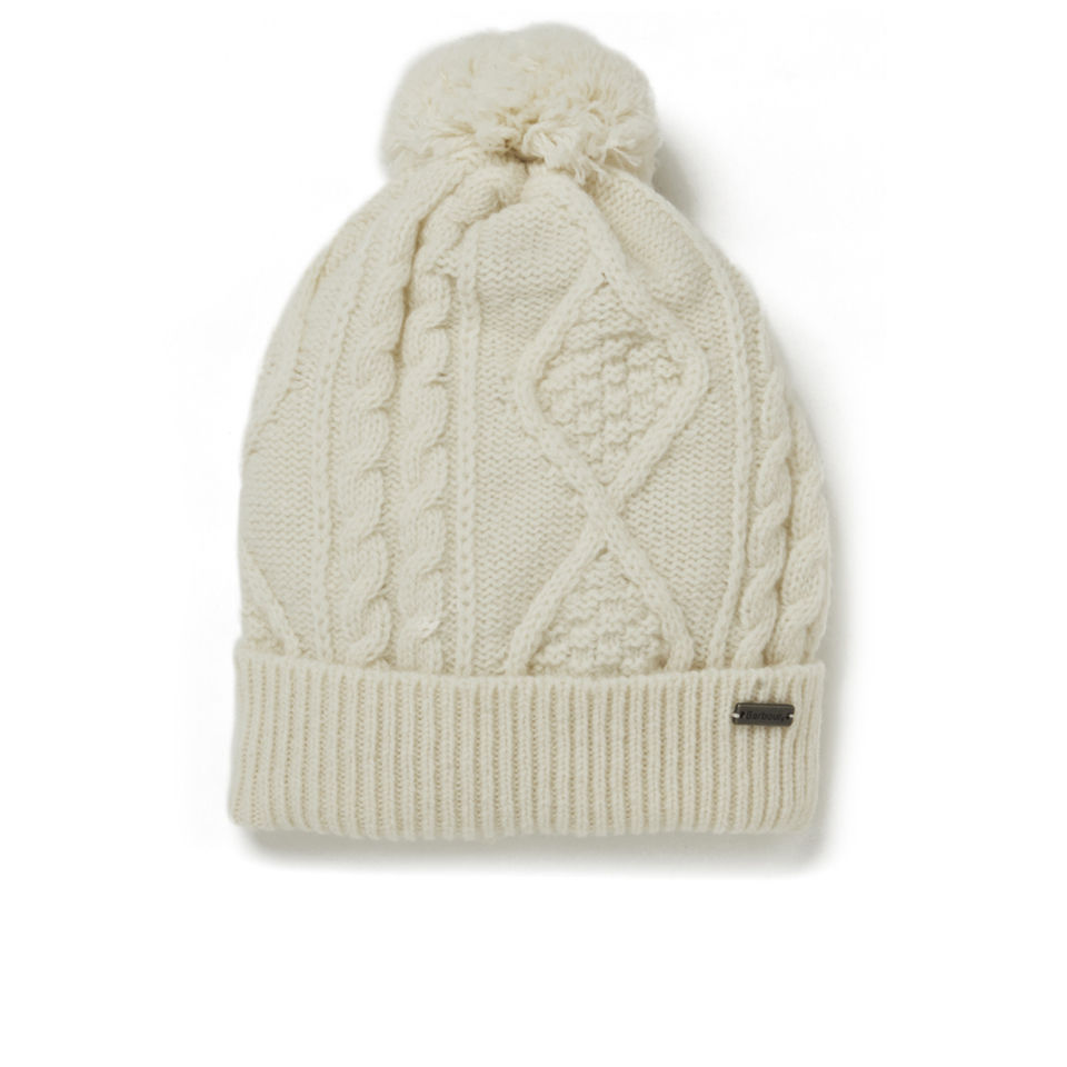 10e41570bf0 Barbour Knitted Sub Bobble Hat - Vanilla