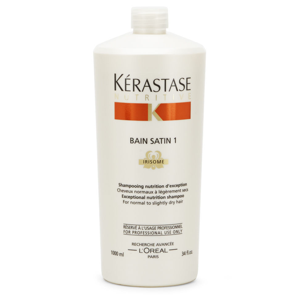 k rastase nutritive bain satin 1 1000ml with pump free shipping lookfantastic. Black Bedroom Furniture Sets. Home Design Ideas