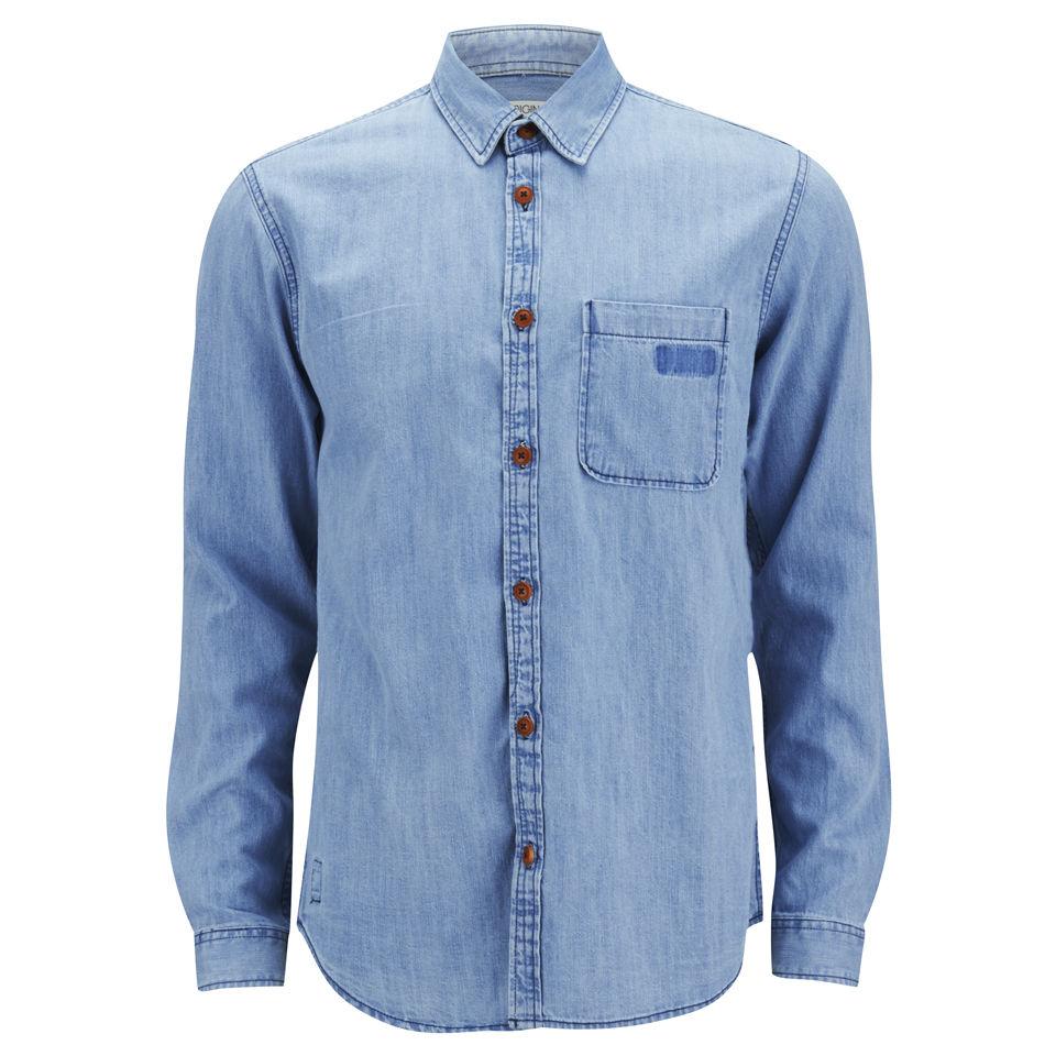 Jack Jones Men 39 S Sharp Long Sleeve Denim Shirt Light