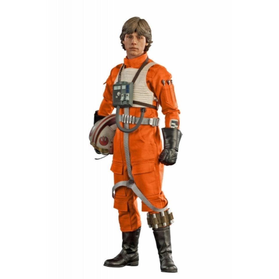 sideshow collectibles star wars luke skywalker red five x wing pilot 1 6 scale figure pop in a. Black Bedroom Furniture Sets. Home Design Ideas