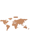 Cork Board World Travel Map: Image 3