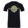 Star Wars Men's Yoda Text Head T-Shirt - Black: Image 1