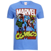 Marvel Men's Attack T-Shirt - Heather Royal: Image 1