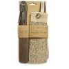 Hydrea London Natural Pumice Foot File & Exfoliating Spa Mitt: Image 1