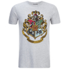 Harry Potter Men's Hogwarts Crest T-Shirt - Sport Grey: Image 1