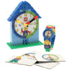 LEGO Time Teacher Blue Mini Figure Link Watch And Buildable clock: Image 1