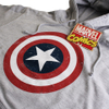Marvel Men's Captain America Sheild Hoody - Light Grey Marl: Image 2