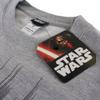 Star Wars Men's Storm Trooper Mask Sweatshirt - Light Grey Marl: Image 3