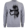 Star Wars Men's Storm Trooper Mask Sweatshirt - Light Grey Marl: Image 1