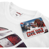Marvel Men's Captain America Civil War Smoke Sheild T-Shirt - White: Image 3