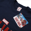Marvel Men's Captain America Civil War Logo T-Shirt - Navy: Image 3