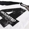 Uncharted 4 Men's Distressed 4 Long Sleeve Raglan Top - White/Black: Image 2