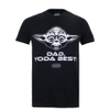 Star Wars Men's Yoda Best Dad T-Shirt - Black: Image 1