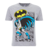 DC Comics Men's Batman Comic Strip T-Shirt - Grey: Image 1