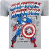 Marvel Men's Captain America Retro T-Shirt - Sports Grey: Image 5