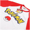Pokemon Men's Logo Contrast T-Shirt - White/Red: Image 4