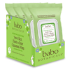 Babo 3-in-1 Hydrating Face, Hand, Body Wipes - Cucumber & Aloe Vera (4 Pack): Image 1