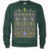 Nintendo Legend Of Zelda Retro Green Christmas Sweatshirt: Image 1