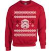 Star Wars Christmas Stormtrooper Knit Red Christmas Sweatshirt: Image 1