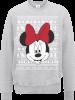 Disney Minnie Mouse Christmas Minnie Face Grey Christmas Sweatshirt: Image 1