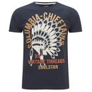 Soul Star Men's Mt Chieftains Printed T-Shirt - Navy